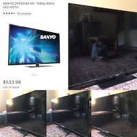 "TV SANYO 55"" Class Full HD 1080p 60Hz LED TV Model DP55D44"