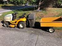 Mower and cart  Wilmington