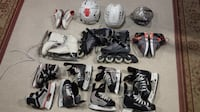HELMETS SKATES ROLLER BLADES AND SHOES Each For 15 -29 TORONTO