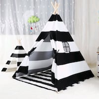 Black and white strips teepee tent for kids- with soft area mat Hamilton, L8L 2H2