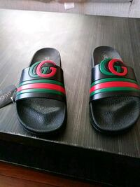 pair of black-and-green Gucci slide sandals Torrance, 90501