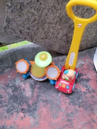 yellow and green plastic toy Toronto, M3C 1A2