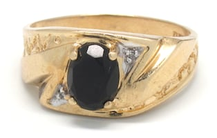 Mens Gold/Onyx Ring