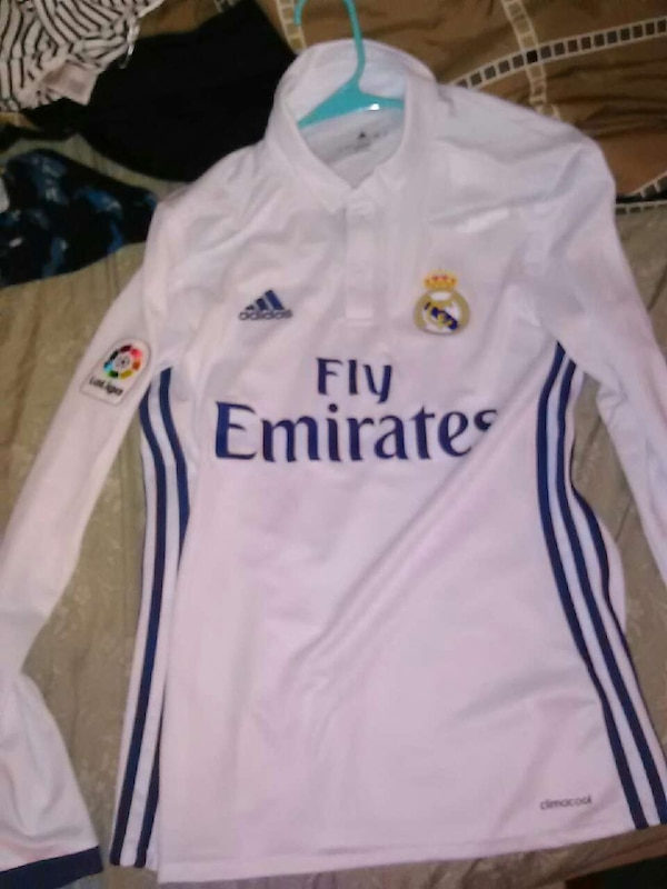 wholesale dealer b9a63 61099 Real Madrid long sleeve home jersey