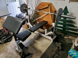 Bench Press Set with CAP Weights and Dumbbells