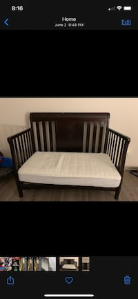 Delta convertible 4 in 1 bed with Serta mattress and pillow top