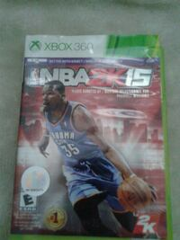 Xbox 360 NBA 2K15 game  Mississauga, L5N 6X5