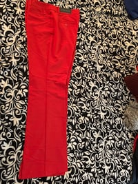Never-worn/ Modern fit trousers – Red - Size 12