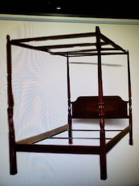 Queen Bombay Bed  4 Poster w/canopy  Pickering