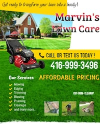 Marvin's Lawn Care TORONTO