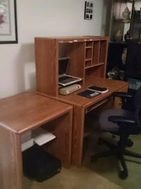 brown wooden desk with hutch Germantown, 20876