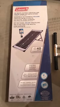 Coleman Solar Panel Kit with Stand Niverville, R0A 0A2