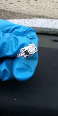 Sterling silver 925 moissanite diamond ring  Everett, 98208