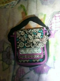 pink and black floral crossbody bag Eureka, 95501