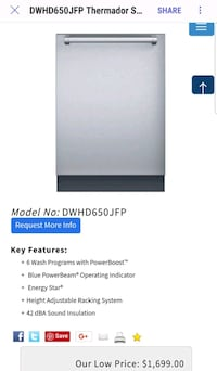white and black Haier top-mount refrigerator screenshot Lorton, 22079