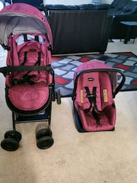 Car seat, base and stroller