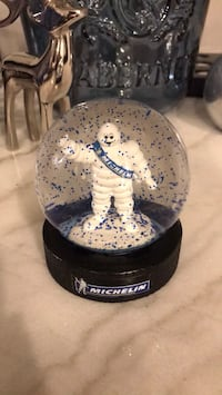 Michelin Man Snow Globe