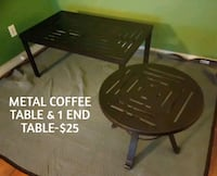 METAL COFFEE TABLE & 1 END TABLE  Fayetteville, 28303