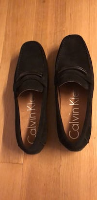 BRAND NEW size 12 black suede CK Loafers New York, 11211