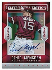 DANIEL MENGDEN 2014 Elite On Card AUTOGRAPH #211/799 A's rookie Aviato
