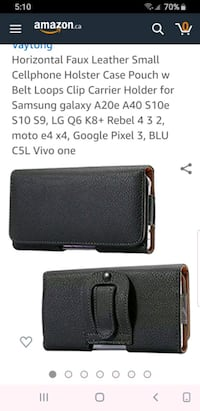 Cellphone Holster Case Pouch with Belt Loop Clip