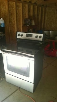 gray and black induction range oven