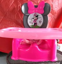 Minnie mouse booster seat with tray