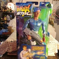 Arctic Agent Max Steel action figure with pack