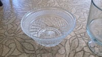 round clear glass bowl with lid Milton, L0P