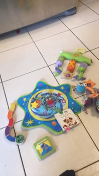 Huge baby toy lot. Whoozit watsr toy, Melissa and Doug caterpillar teething toy, two books, tiny live wind chimes and another hanging toy by Lamaze. Serious only please! Vaughan, L4J 5L7