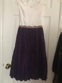 Purples d white size 16 girls  dress  Toronto, M1B 1G5
