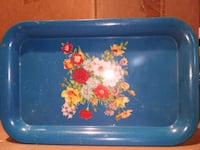 blue and pink floral ceramic plate Waldorf, 20603