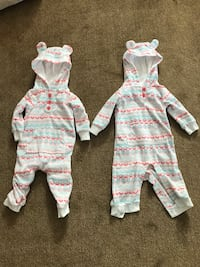Twin girls bear suits - 9m Arlington, 22203