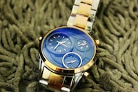 round gold-colored chronograph watch with link bra Amritsar, 143001