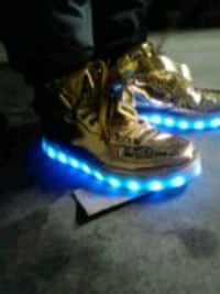 Shiny Gold light up hightop sneakers