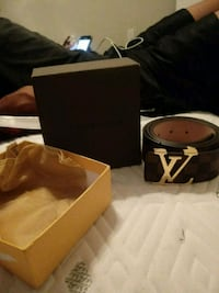 black and brown Louis Vuitton belt Houston, 77044