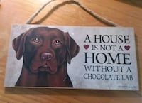 Chocolate Lab Dog Decoration Sign  Commerce, 30529