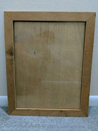 Unfinished frame with glass