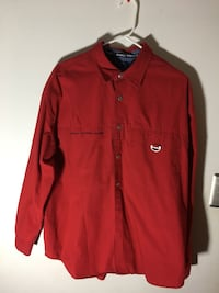 red button-up long-sleeved shirt Annandale, 22003