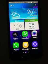 black Samsung Galaxy android smartphone Kitchener, N2A 2R1