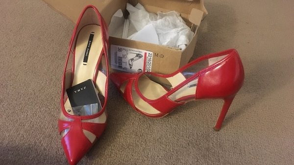 7993f6e5c7e1 Used New with tags + box zara red heeled pumps size 6 for sale in Los  Angeles