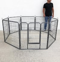 """New $75 Heavy Duty 32"""" Tall x 32"""" Wide x 8-Panel Pet Playpen Dog Crate Kennel Exercise Cage Fence South El Monte"""