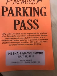 parking  pass Ashburn, 20147