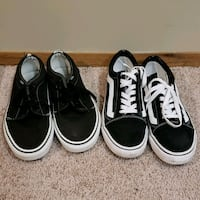 two pairs of black and white low-top sneakers Winnipeg, R2J 1W5