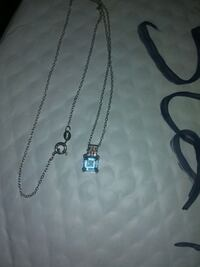 Light blue stone and diamond 925 silver necklace Las Vegas, 89118
