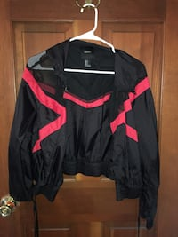 black and red zip-up jacket 1466 mi