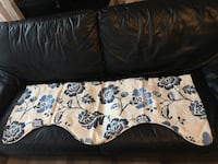 Valance Curtains Blue and White Flower Print 4 pieces West Linn, 97068