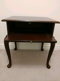brown wooden single-drawer end table Markham, L3R 0K6