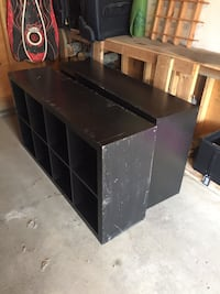 black wooden 3-layer shelf Calgary