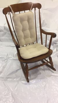 Antique Brown wooden framed white padded armchair Hummelstown, 17036